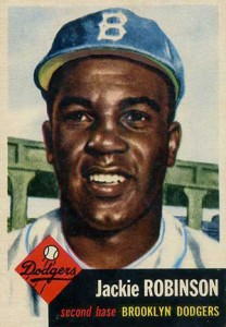 1953 Topps Jackie Robinson card.