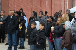Dozens of participants from throughout the city came out to support peace on the streets. (Photo By LouRawls Burnett)