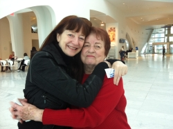 Frances and her mom at MAM.