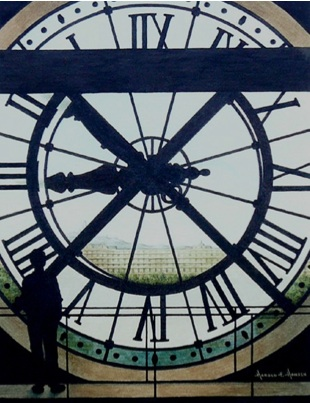 Harold E. Hansen's Musée d'Orsay is featured in his new exhibition at River Edge Gallery.