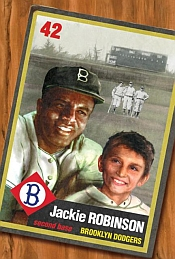 """Jackie and Me"" features a time-traveling kid whose magic baseball card gives him the chance to meet Jackie Robinson."