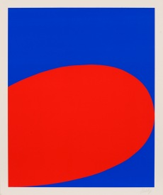 Ellsworth Kelly, Red Blue, 1964. Screenprint on Mohawk Superfine Cover paper, 24 x 20 inches. Edition of 500. © Ellsworth Kelly and Wadsworth Atheneum, Hartford, Connecticut. Collection of Jordan D. Schnitzer.