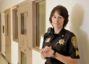 Sgt. Louise Hackel is one of about two dozen Clark County jail staffers who lost protective status earlier this year. Shane Opatz/Eau Claire Leader-Telegram.
