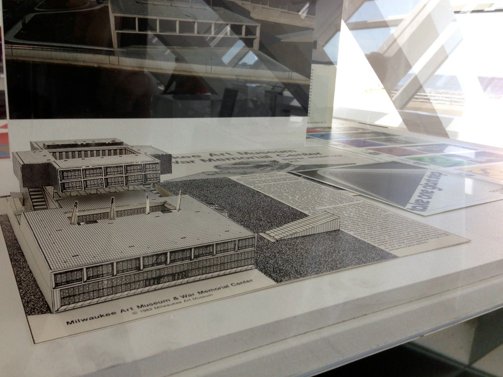 125 Years of the Milwaukee Art Museum includes clever ephemera, such as this paper model of the museum from 1982.
