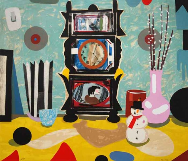 T. L. Solien, Japanese Clock. Image courtesy Tory Folliard Gallery.