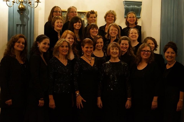Sharon Hansen, front row center, and the Milwaukee Choral Artists.