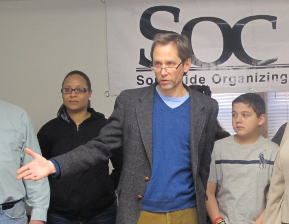 Steve Fendt, executive director of the Southside Organizing Committee, says ending the residency requirement will hurt all Milwaukee neighborhoods. (Photo by Edgar Mendez)
