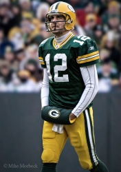 Aaron Rodgers. Photo by Mike Morbeck.