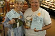 Two lucky prize winners at last year's Fair Trade Crawl. Photo by Steve Watrous.