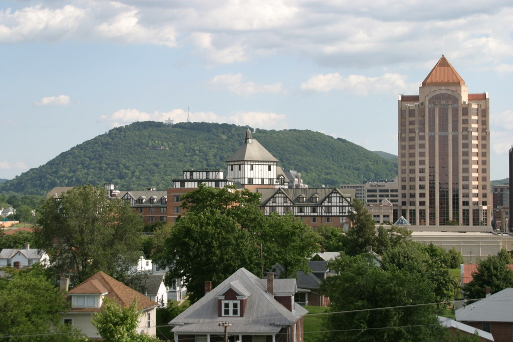 Virginia, Roanoke, city skyline,