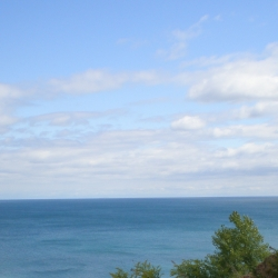 Looking out over Lake Michigan