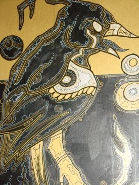 Blackbird painting by Luke Chappelle.