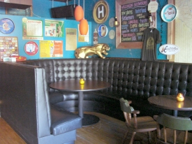 Booth in the Blackbird Bar. Photo by Nastassia Putz.