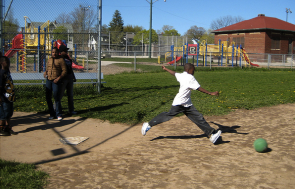 COA Goldin Center's after-school program includes physical fitness, sports, homework help, computer and art classes, community service and cooking and nutrition education among other activities. (Photo by Andrea Waxman)