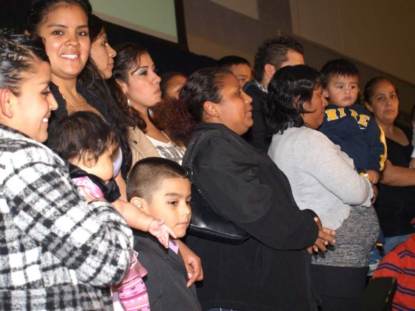 Palermo workers and their families were honored at a Voces de la Frontera gala. Photo by Dominique Paul Noth.