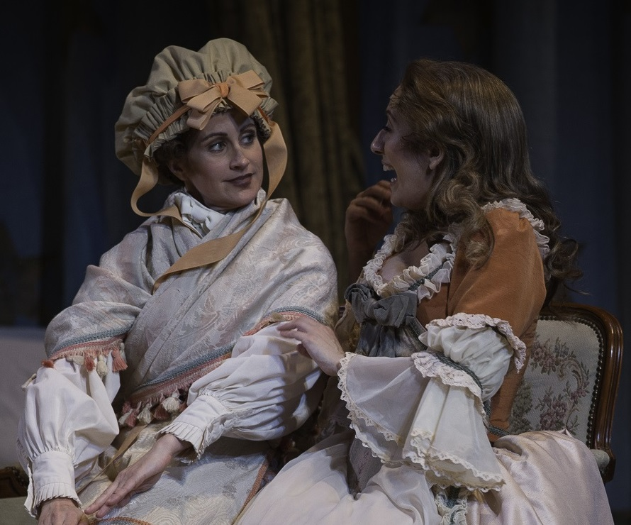 Adriana Zabala as Cherubino and Jamie-Rose Guarrine as Susanna. Photo courtesy of the Florentine Opera Company.