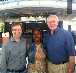 Chris Abele, Kimberly Walker, and Tom Barrett. Photo from Abele Campaign Facebook Page.