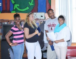 "Participants attend a teen poetry workshop entitled ""More Than Words"" (Photo courtesy of COA Youth & Family Centers)"