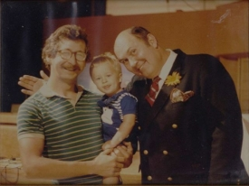 Bill Overman, his son Jesse, and Willard Scott.