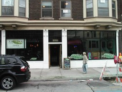 Mai Thai Restaurant has a new facade replacing the ugly bricked-up front that had disfigured the building. Photo by Michael Horne.