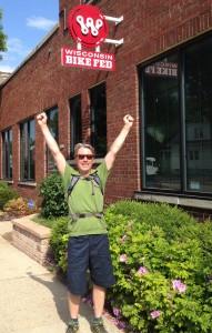 I felt like Rocky when I finally made it to the Bike Fed office.