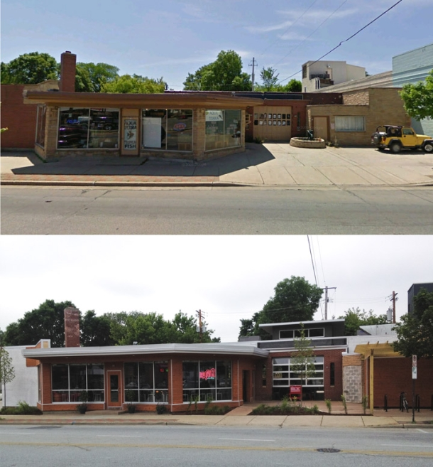 Tosa Imports (top). The new Bel Air Cantina (bottom). Photo by Tom Bamberger.