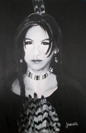 Portrait by Jeanette Fellows.