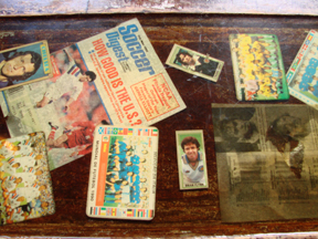 Soccer table memorabilia