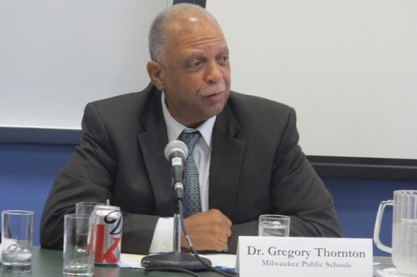 Dr. Gregory Thornton, superintendent of MPS, says he worries about students who don't have the tools to succeed. (Photo by Edgar Mendez)