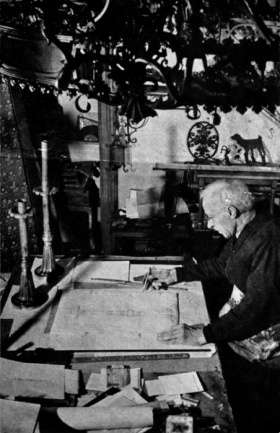 Cyril Colnik in his home studio. Courtesy: Villa Terrace Decorative Arts Museum private collection.
