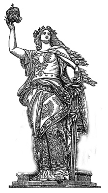 Drawing of Germania Statue.