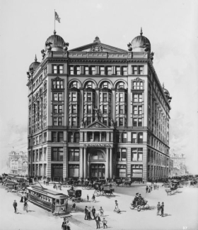 The Germania Building as she originally looked.