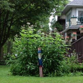 Rain garden off of N. Frederick Ave. Photo by Joe Kelly.