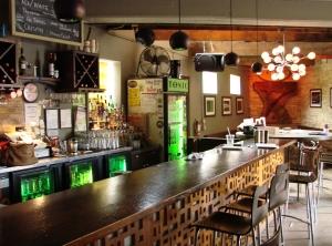 The bar (shaped like a microphone). Photo by Nastassia Putz.