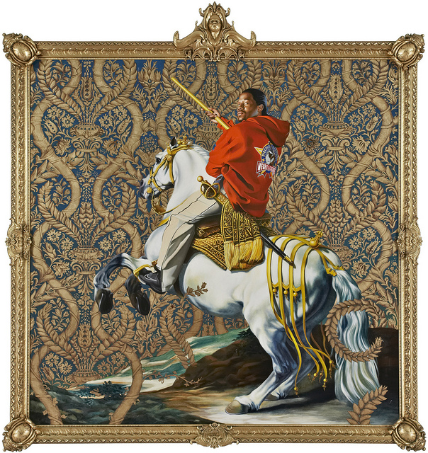 Kehinde Wiley, Equestrian Portrait of the Court-Duke Olivares, 2005. Courtesy Rubell Family Collection, Miami.