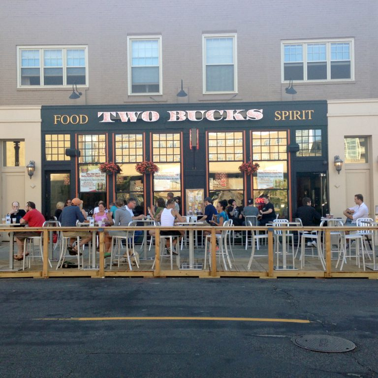 Divino Wine & Dine and Two Bucks Parklet. Photo taken August 18th, 2013 by Mariiana Tzotcheva