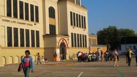 Students start school on Sept. 4, 2012. (Photo by Kenya Evans)