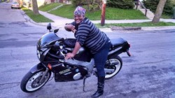 The late Vinencia Dawson on her motorcycle getting ready for a ride. (Courtesy of Vinnetta Dawson)