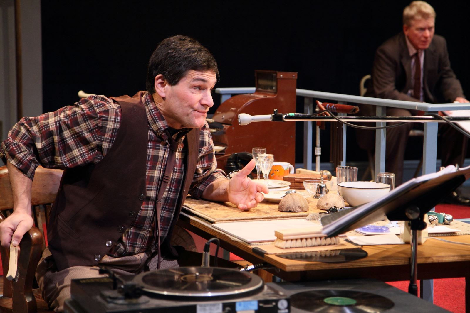 Artistic Director David Cecsarini as Foley artist