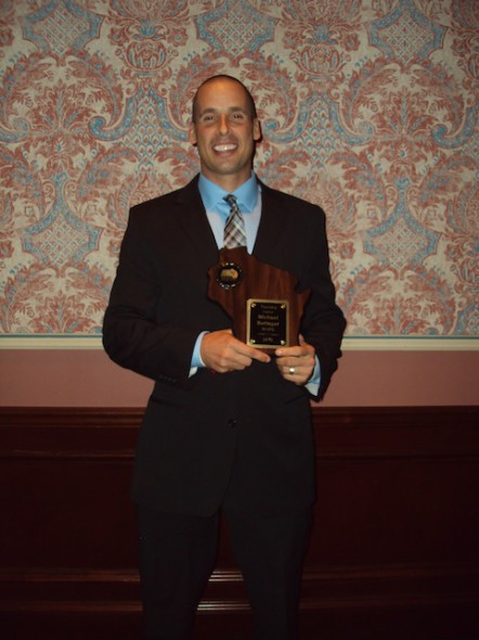 Michael Beringer, of MPS' Fairview School, is the WHPE elementary Teacher of the Year