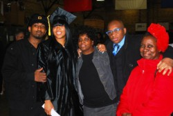 Friends and family attended Dequana Bostick's graduation ceremony in December. (From left to right): De'na Bostick, Dequana Bostick, Pamela Gilbert, Demartel Gilbert and Patricia Woods.