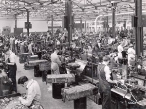 The Raleigh factory in Nottingham, England.