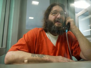 Mark Schulke, here at the Portage County Jail, hopes to get access to his medication to manage his mental illnesses and alcoholism once he is released. He is now serving a five-year term for his 10th OWI. Nora G. Hertel/Wisconsin Center for Investigative Journalism