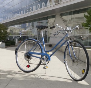 I love our old Schwinn Suburan, but it is the perfect bike to leave locked up outside over night at the train station.