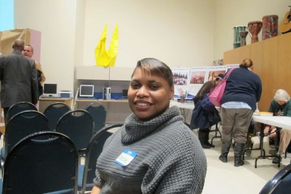 Chelsie Mason attended the Washington Park Annual Gathering to discuss her new Habitat for Humanity home. (Photo by Karen Stokes)