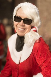 Poster child for the modern Santa Cycle Rampage: happy, safe, responsible and an ear to ear grin.