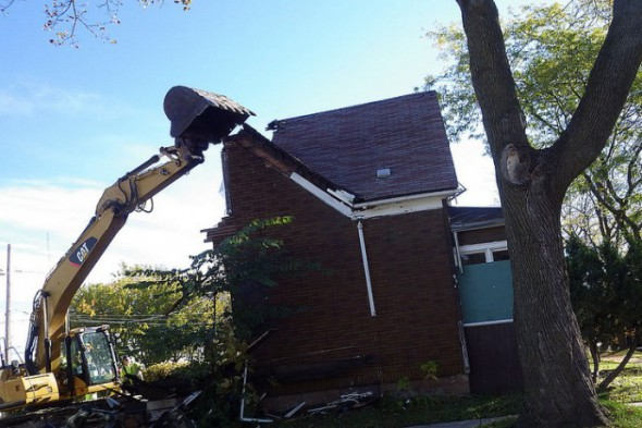 City officials say 100 of the 500 demolitions scheduled this year will be conducted in-house through a new pilot program. (Photo courtesy of the Department of Neighborhood Services)