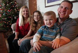 Eric Pizer and family. Photo by Amber Arnold of the Wisconsin State Journal.
