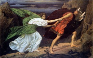 The Eurydice Festival deconstructs the myth of its namesake, a woman whose husband Orpheus re-condemns her to the underworld by looking back at her during their escape. The duo are depicted above in a painting by Edward Poynter.