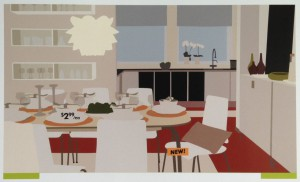 """Kota Ezawa, """"NEW! ($2.99/ea) is on view in Between Critique and Absorption."""